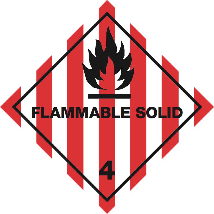 iata icao labels iata 4 1 flammable solid iata icao labels iata 4 1 flammable