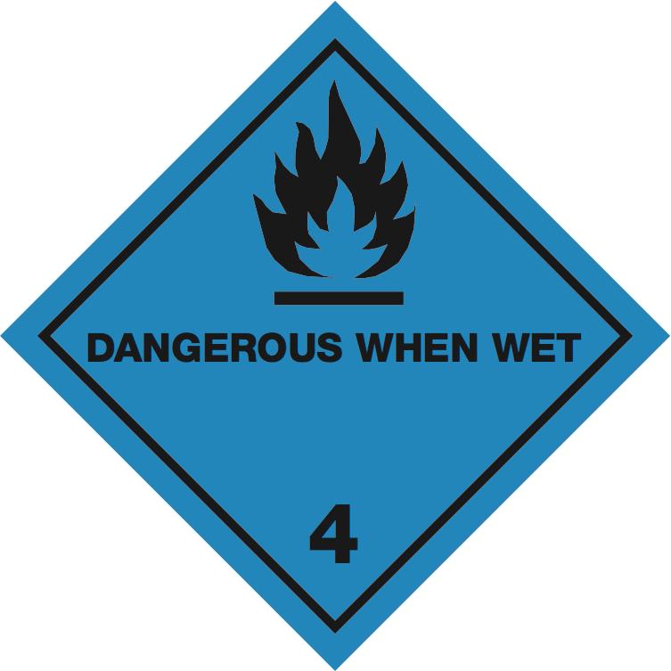 iata icao labels iata 4 3 dangerous when wet iata 4 3 dangerous when wet